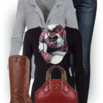 Pure Cashmere Cardigan Casual Fall Outfit