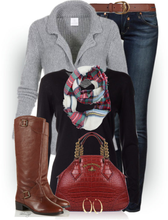 Pure Cashmere Cardigan Casual Fall Outfit outfitspedia