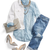 All Denim Casual Spring Outfit outfitspedia
