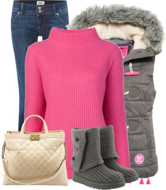 Casual Pink Vibe Winter Outfit outfitspedia