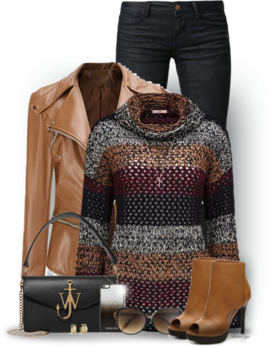 Funky Fish Net Jumper Stylish Fall Winter Outfit outfitspedia
