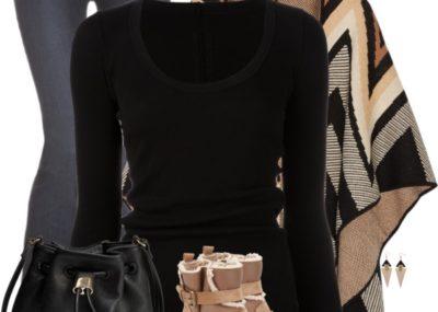 Mara Hoffman Cape Fashion Trend Fall Outfit outfitspedia