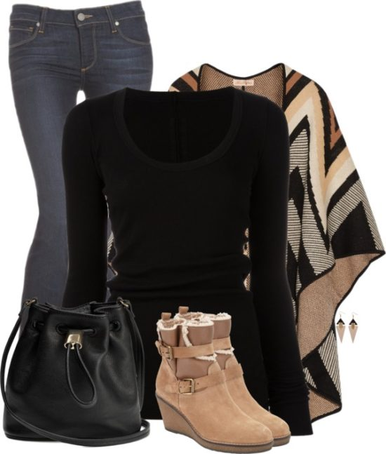 Mara Hoffman Cape Fashion Trend Fall Outfit outfitspedia