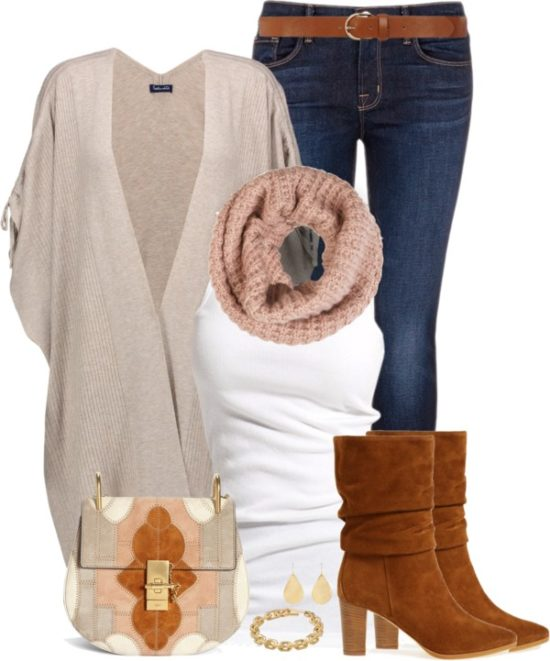Ribbed Knit Cardigan Casual Fall Outfit outfitspedia