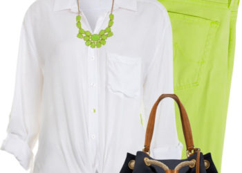 neon green jeans casual outfit outfitspedia