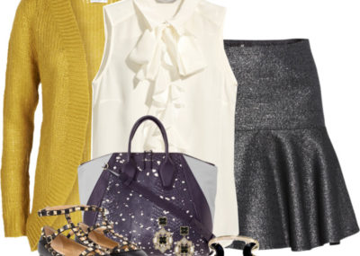 yellow loose cardigan early fall outfit outfitspedia