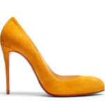 Christian Louboutin suede pumps mustard outfitspedia