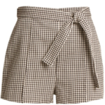 ZIMMERMANN Paradiso Gingham Drill Shorts outfitspedia