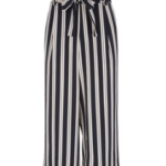 Stripe Cropped Trousers - outfitspedia