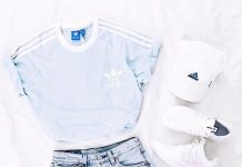 adidas t shirt casual teen summer outfit 2