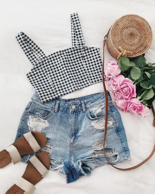gingham summer outfit 2