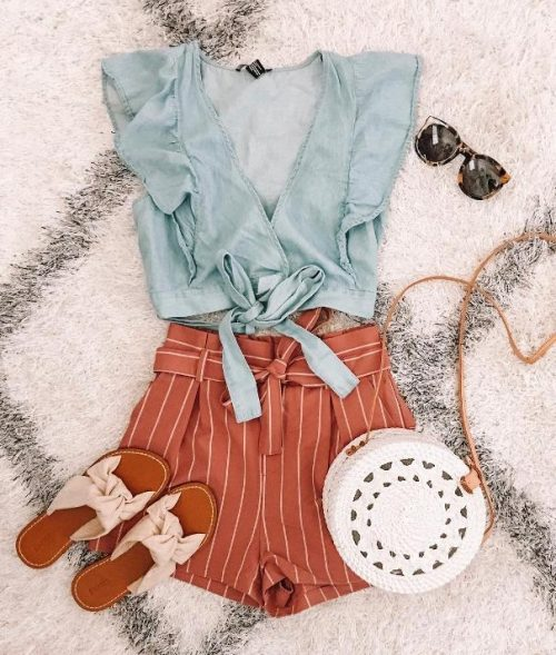stripe and chambray summer outfit 2
