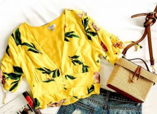 yellow blouse summer outfit 2