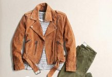 Cropped Moto Jacket Sporty Fall Outfit 2