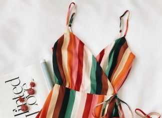 Rainbow Cami Dress Outfit 2