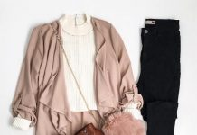 blush pink cardigan outfit 2 outfitspedia