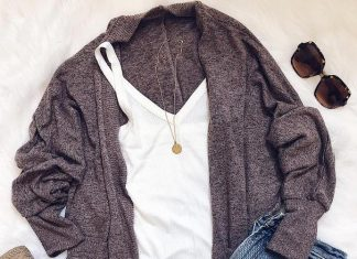 cozy cardi layer fall outfit 2
